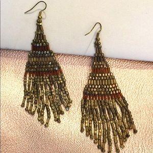 Jewelry - Boho Chic Beaded Fringe Earrings